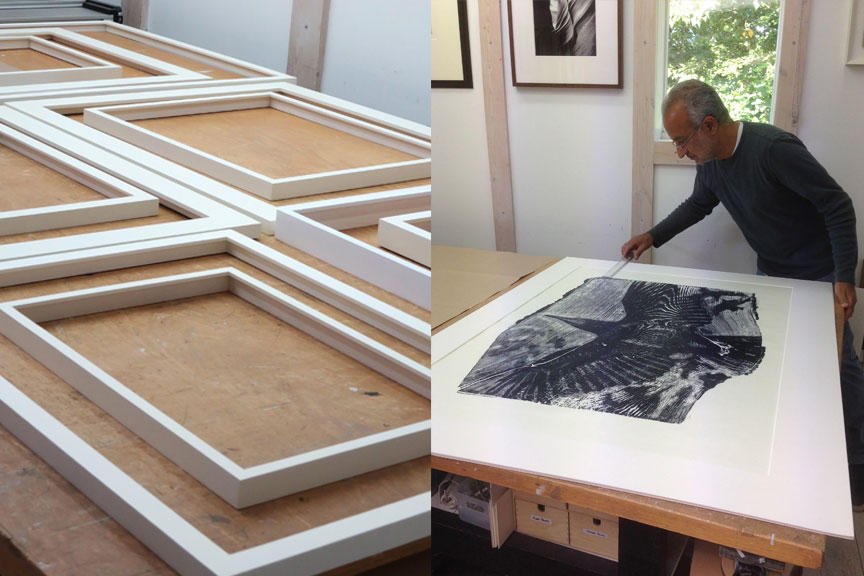 white-frames-drying-mounting-a-print