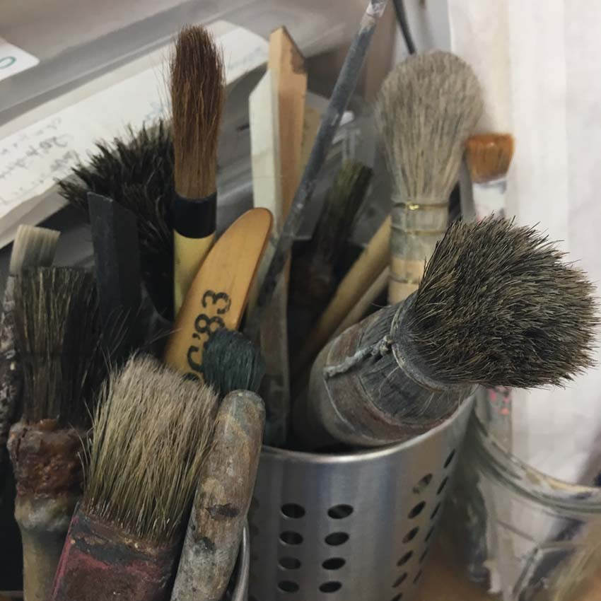 glueing brushes